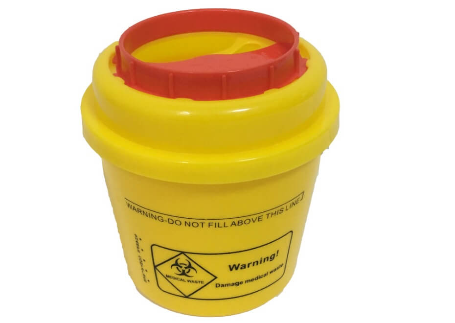 Cylinder Sharp container